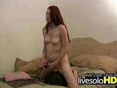 Cute Redhead Playing With a Sybian Thumb