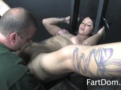 Femdom Brittany Lynn Takes Control With Bondage Fart Licker Thumb
