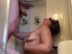 Mutual Morning piss for Hotwife Milf and her husband Thumb