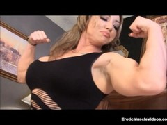 EroticMuscleVideos BrandiMae Dominates And Pegs Dirty Old Man Thumb