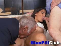 Slutty Latino Teen Ho Fucked By 2 Very Elderly Geezers Thumb