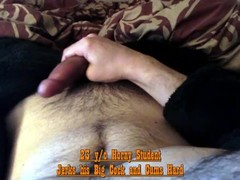 Horny Student jerks his Big Dick and spurts Jizz Thumb