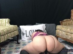 Big ass Plumper rides big dildo for you! Brunette Bbw horny babe. Thumb