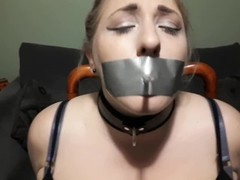 Elle Moon BBW Smoking Fetish Tied to Chair and Made to Smoke Thumb