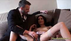 Real Sub Slut Choking Gagging Big Orgasm Thumb