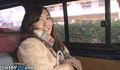Japanese beauty thanks for the ride getting cum in mouth Thumb